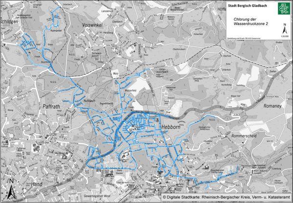 Die gesamte Wasserdruckzone 2 war betroffen, hier werden weiter Proben genommen