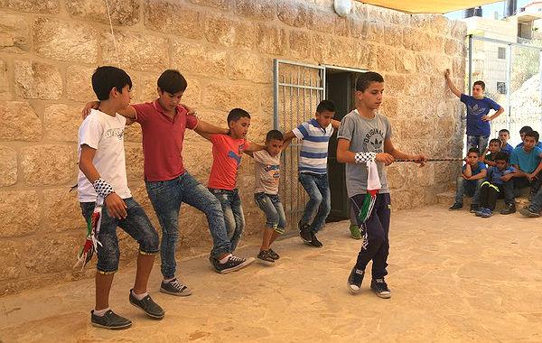 Dabke-Tanz zum Empfang im Abrahams Zelt