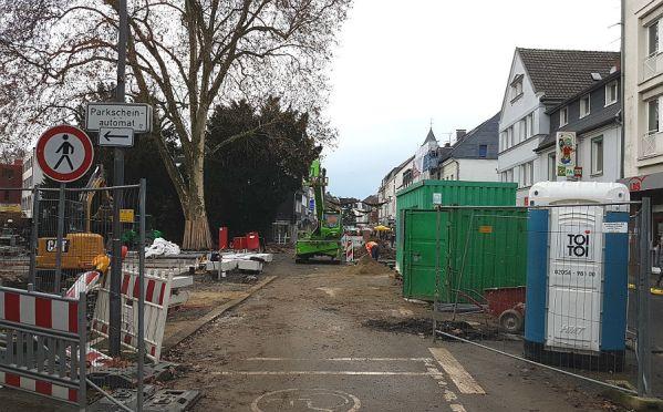 So sah der Eingang zur Fußgängerzone am Forum noch am Mittwoch aus