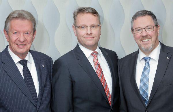 Der Vorstand der Bensberger Bank: Helmut Krause, Jürgen Füllenbach, Olaf Schmiedt