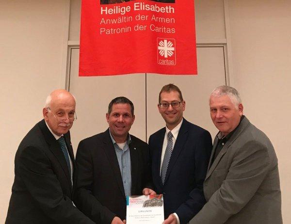 Joachim Nix (Schatzmeister), Ulrich Gürster (1. Vorsitzender), Stephan Glaubitt (2. Vorsitzender) und Günter Düren (Beisitzer)