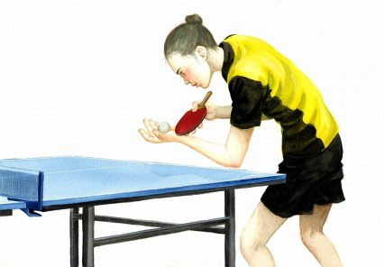 A Table Tennis Player