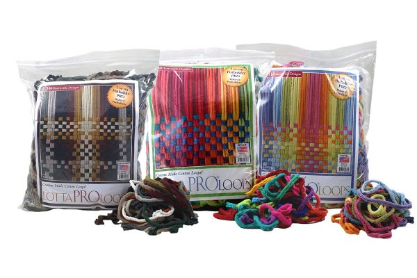 bags of multi colored loops