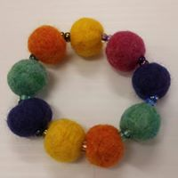 felted beaded bracelet