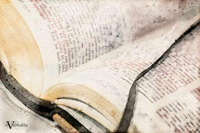 Book of Verse watercolor image