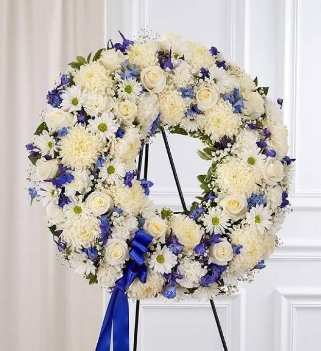 Serene Blessings™ Standing Funeral Wreath