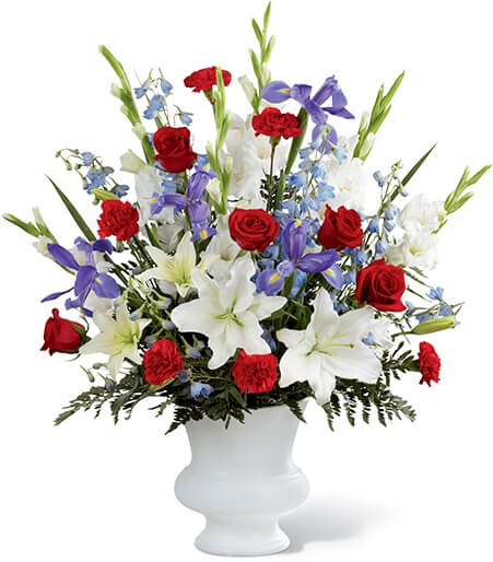 Cherished Farewell Arrangement Funeral Flower Basket