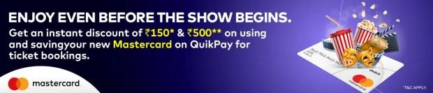 MasterCard Offer Online Movie Ticket Offer - BookMyShow