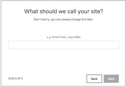 Websites + Marketing step two