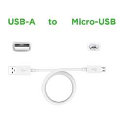 Motorola Data/Charging Cable USB-A to Micro-USB — White