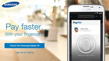 Paypal: Διαθέσιμες οι πληρωμές με δακτυλικό αποτύπωμα για το Galaxy S5