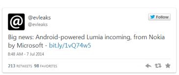 Nokia By Microsoft: Ετοιμάζει Lumia συσκευή με Android