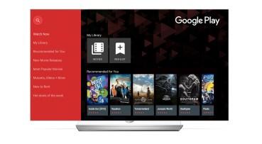 Όλες οι τελευταίες ταινίες και τα TV Shows στις LG Smart TV με το 'Google Play Movies & TV'