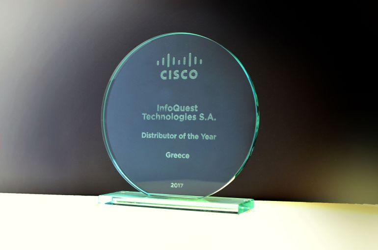 "Info Quest Technologies: Βραβεύεται από τη Cisco Greece ως ""Διανομέας της Χρονιάς"" για το 2017"