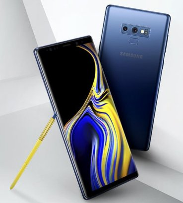 Επίσημη φωτογραφία του Note 9 της Samsung