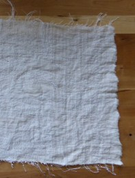 Hand- stitched linen