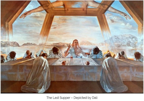 Our light body is often depicted in art as being within a Metatron's Cube or some other similar geometric structure. Some of Dali's paintings of the Last Supper of Christ depict this meal taking place within a dodecahedral structure.