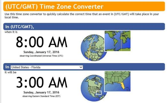 The event occurred at 8AM UTC, which is 3AM Eastern in Florida.