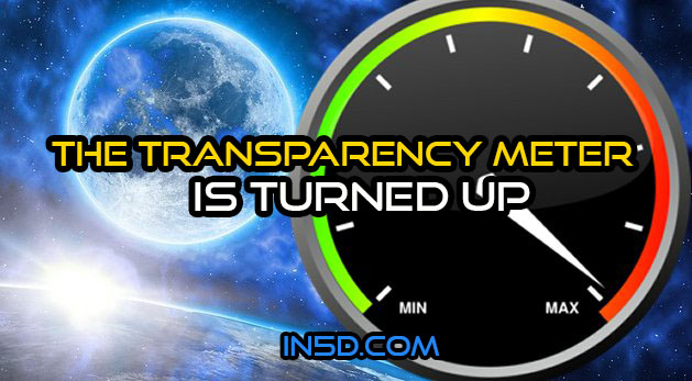 The Transparency Meter Is Turned Up