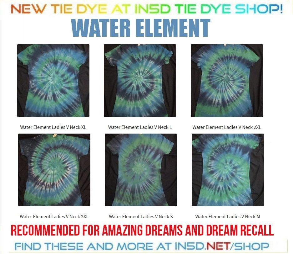 NEW Ladies V Neck Water Element Tie Dye Shirts