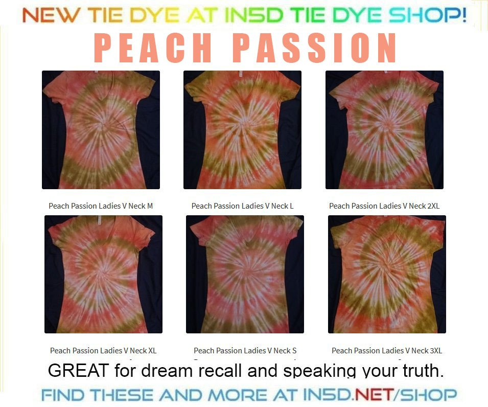 NEW!!! Peach Passion Ladies V Neck Quantum Tie Dye T Shirts