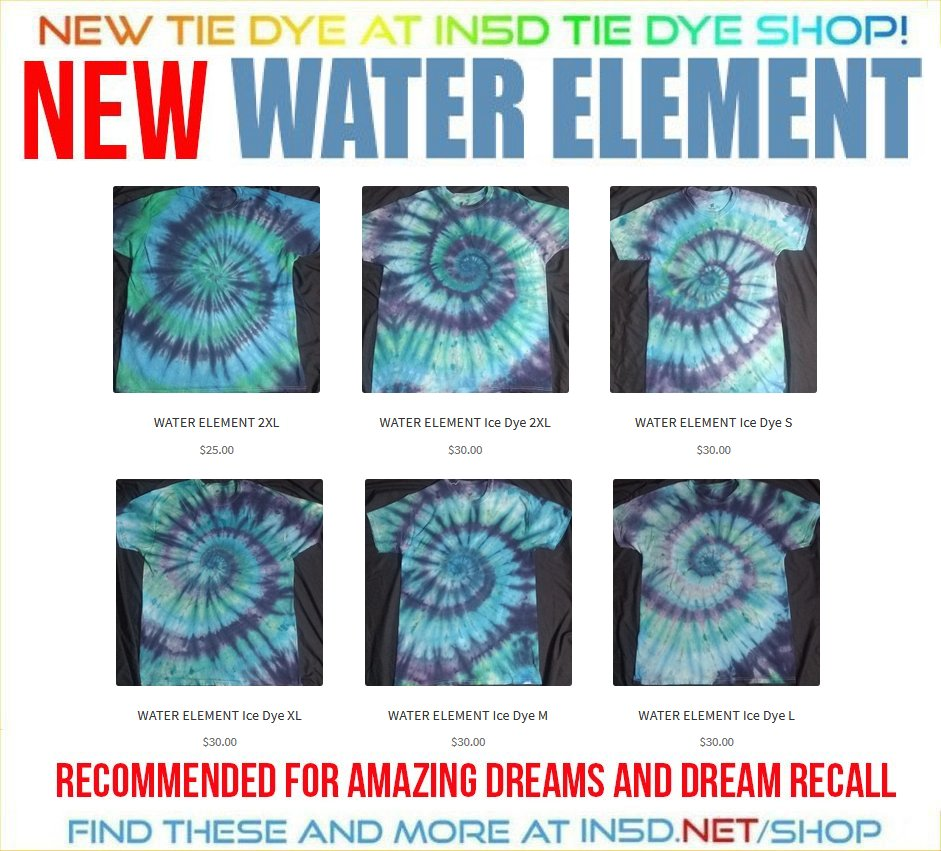 NEW Water Element ICE DYE Tie Dye Shirts, ALL Sizes!