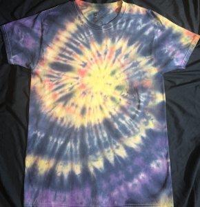 AIR ELEMENT PASTEL SUNSET Quantum Tie Dye Shirt Medium