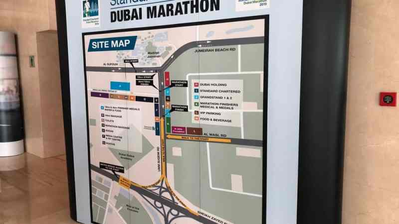 Dubai Marathon 2019: Messe und Stadtrundfahrt