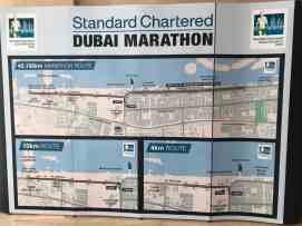 Streckenverläufe Dubai Marathon 2019