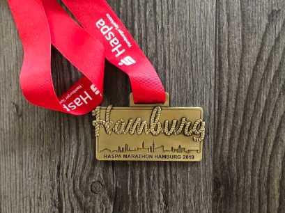 Hamburg Marathon 2019 Medaille Vorderansicht