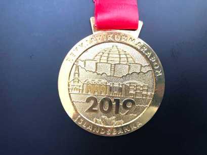 Vorderseite Medaille Reykjavik Marathon 2019
