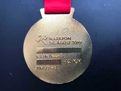Rückseite Medaille Reykjavik Marathon 2019