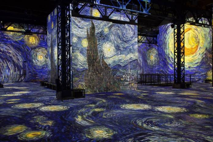 Atelier des Lumières Exhibit. Photo: Culturespaces