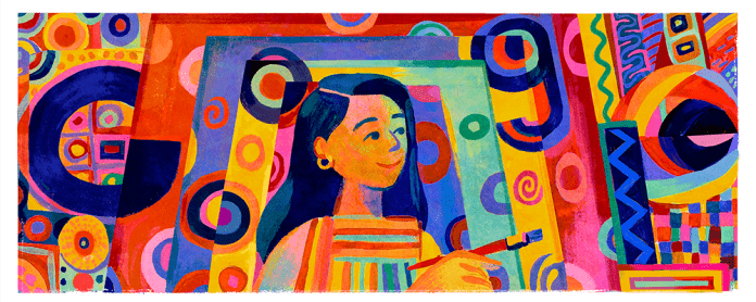 Tribute to Pacita Abad. Google Doodle