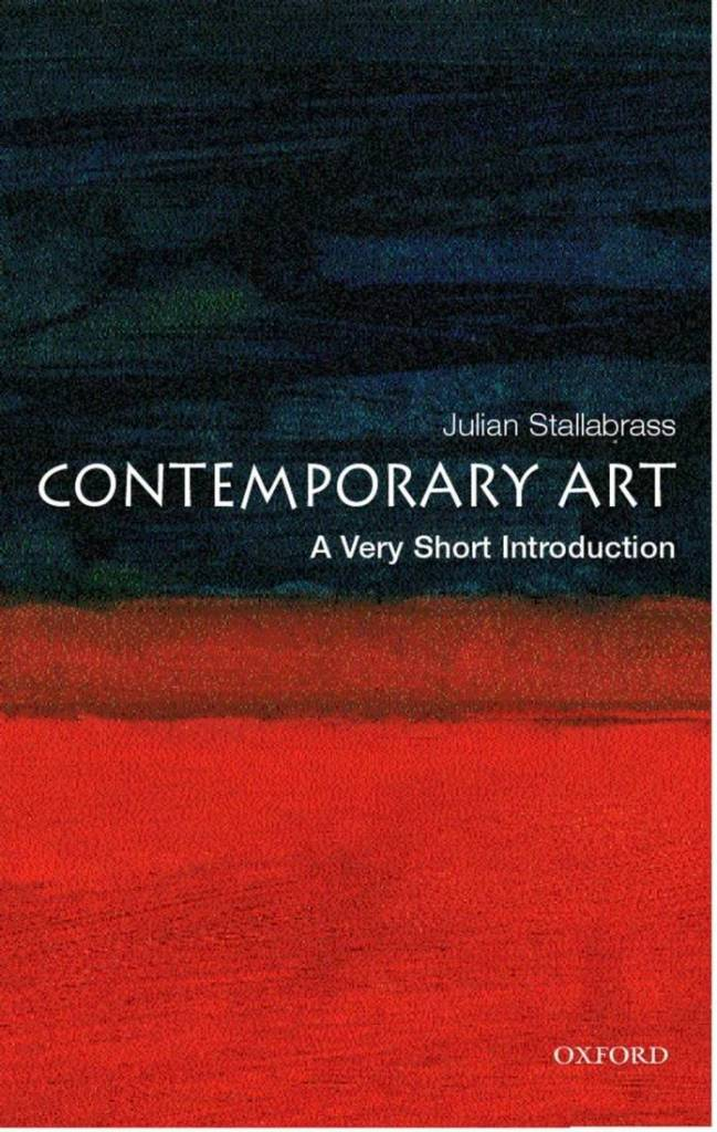 Julian Stallabrass - Contemporary Art: A Very Short Introduction, 2004. Image: Amazon.com