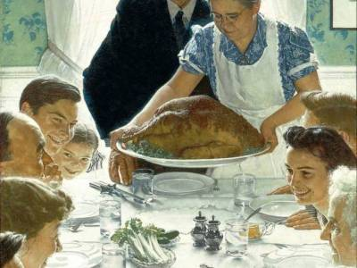 Norman Rockwell, Freedom From Want (1943). Photo: Norman Rockwell Museum Collections