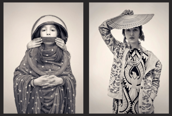 Photographer Jorge Vargas and his two daughters. Left: Saint, and Right: Air. (Jorge Vargas)