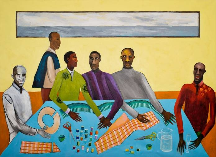 Lubaina Himid: Six Tailors, 2019. Photo: nybooks.com