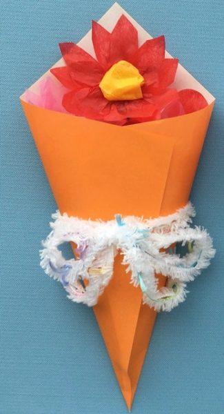 花束のメッセージカードを手作り
