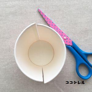 紙コップを切る