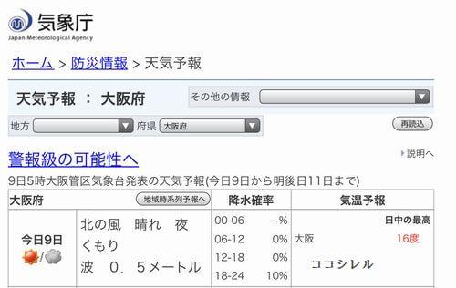 通り抜け初日の天気予報