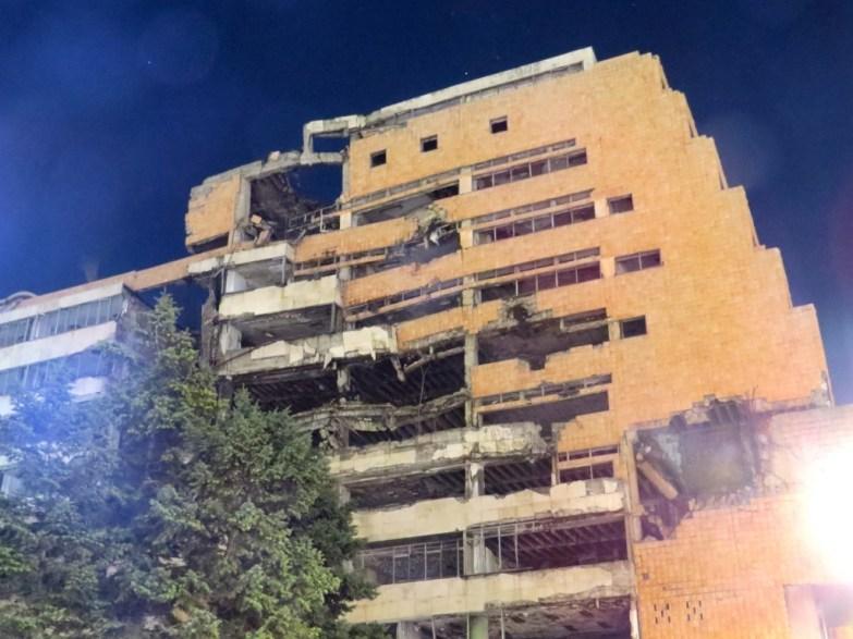 Hit by NATO in 1999 in Belgrade