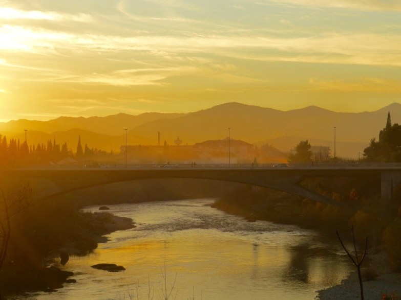 sunset in podgorica