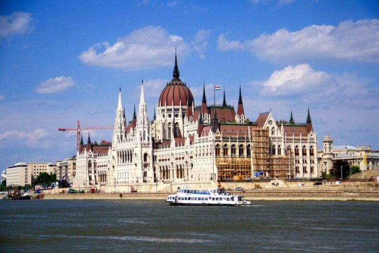 The Hungarian Parliament in Budapest.