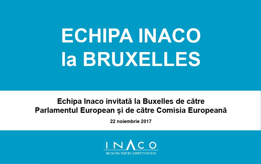 Misiune economică a INACO la Bruxelles
