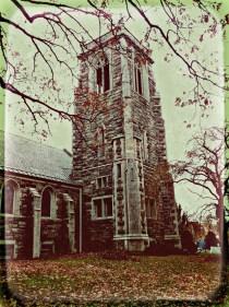 A crumbling church