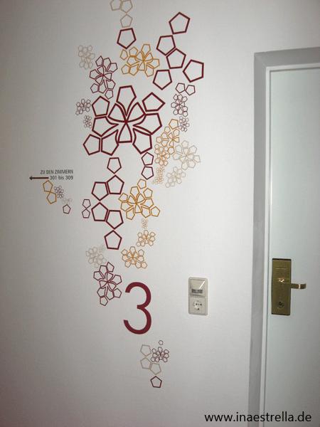Wandgestaltung Hotel Korridor