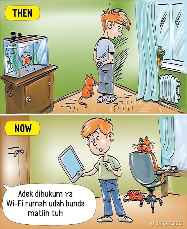 2 9 13 Komik ini Perlihatkan Beda antara anak zaman sekarang dan dulu!