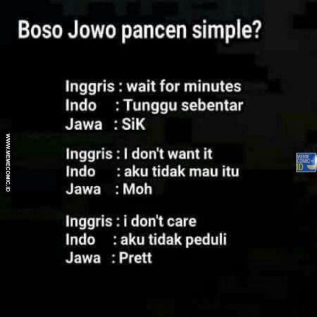 9 20 10 Gambar Meme Lucu 'Bahasa Jawa' ini bikin Kamu Ngakak Lihatnya