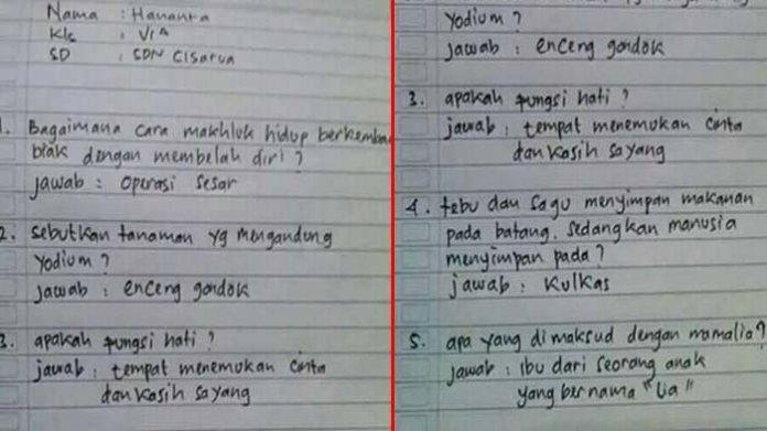 kids jaman now 20171008 115514 Saat diberi 5 Pertanyaan Pelajaran IPA, Seperti ini Jawaban 'Kids Zaman Now'. No 3 Bikin Netizen Heran